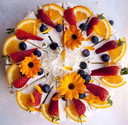 Afbeeldingen van Kwarkbosvruchten taart - 20 cm of half