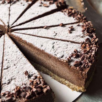 Afbeeldingen van Chocoladetaart Vegan - halve taart