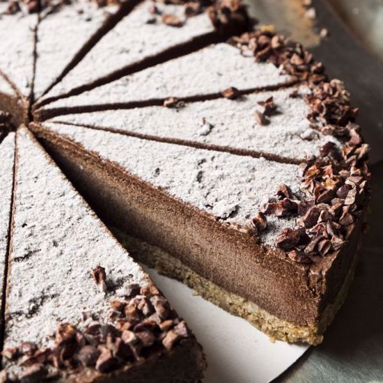 Afbeelding van Chocoladetaart Vegan - halve taart